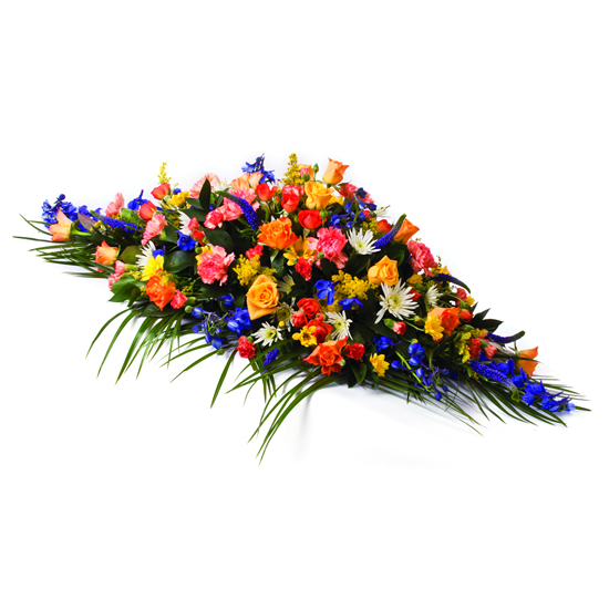 Mixed Flowers Coffin Spray - FL002