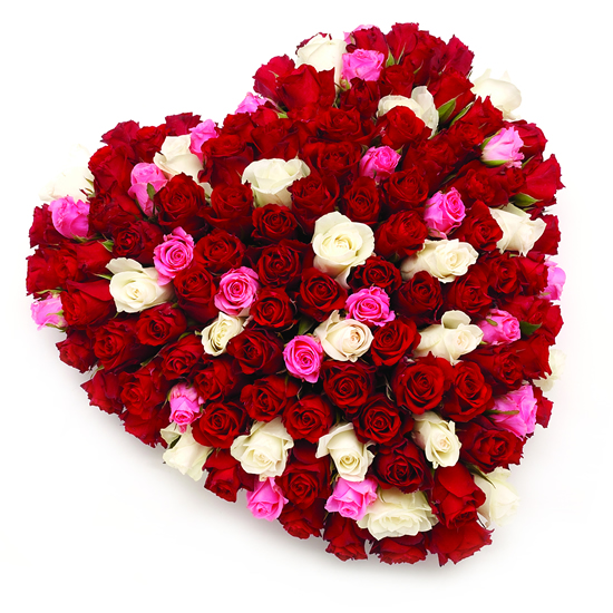 Mixed Rose Heart - FL039