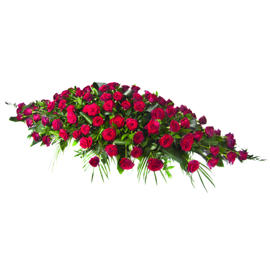 Red Rose Coffin Spray - FL043