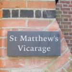 New Plaque for St Matthew's Vicarage
