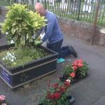 Lodge Brothers Sponsor Flower Pots in St Jude's Road, Englefield Green