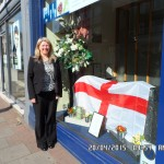 St George's Day is Marked With a Colourful Display at Lodge Brothers Weybridge