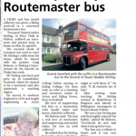 Bus Enthusiast Stuart Geddes Makes Final Journey in Routemaster Bus