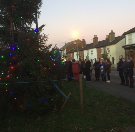 Lodge Brothers Attend the 'Lighting Up' of Englefield Green