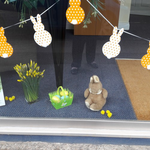 Easter Window Display at Esher Branch