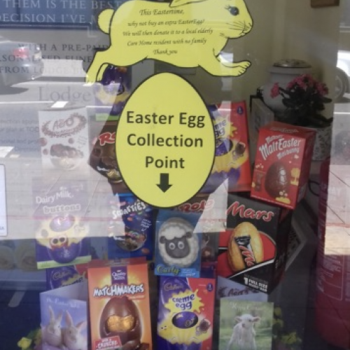 Lodge Brothers Yiewsley Collect Easter Eggs for the Elderly