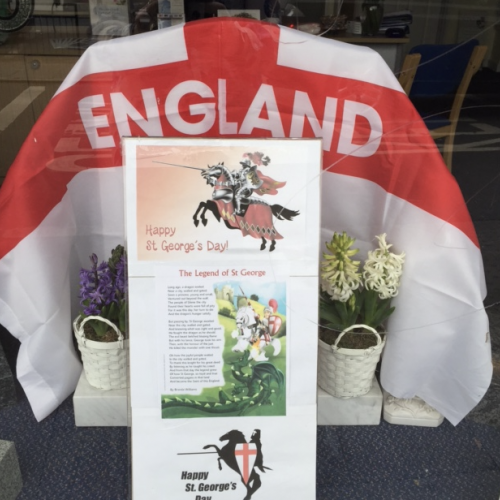 Northolt Branch St George's Day Display