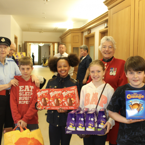 Lodge Brothers Easter Egg Donation to Royal Hospital Chelsea