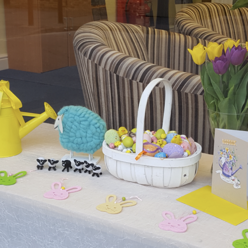 Easter Display at Cobham Branch