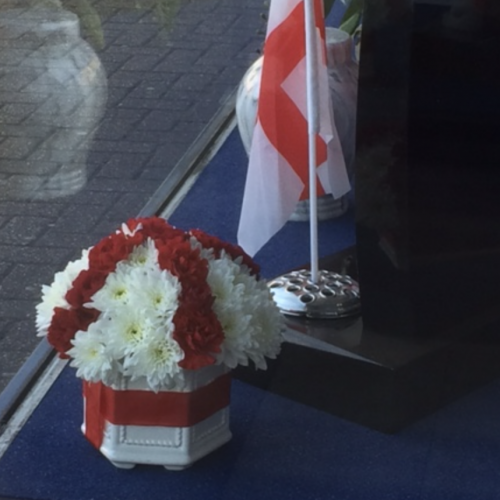 St George Cross Floral Tributes