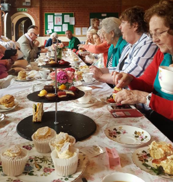 Picture of tea party at Village centre 26.5.17