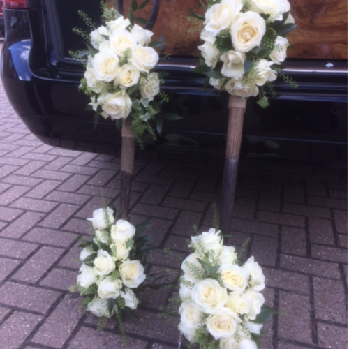 Quirky and Bespoke Floral Display at Lodge Brothers Sunningdale