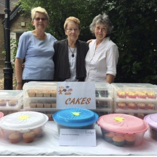 Lodge Brothers Judy Hyde's Cake Sale Boosts St Mary's Summer Fair