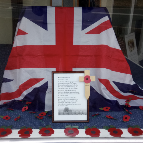 Flanders Field, Flags & Poppies at Addlestone Branch