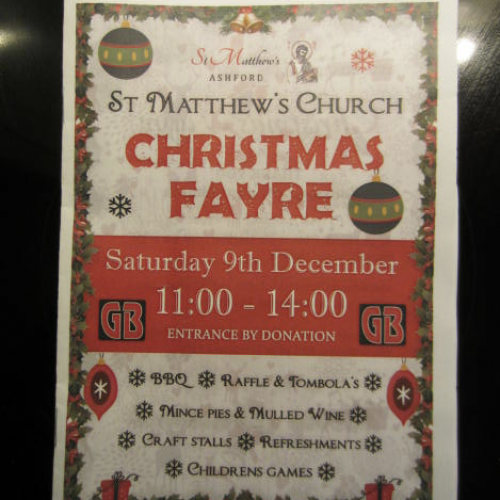 St Matthews Church Christmas Fayre Opened by Lodge Brothers