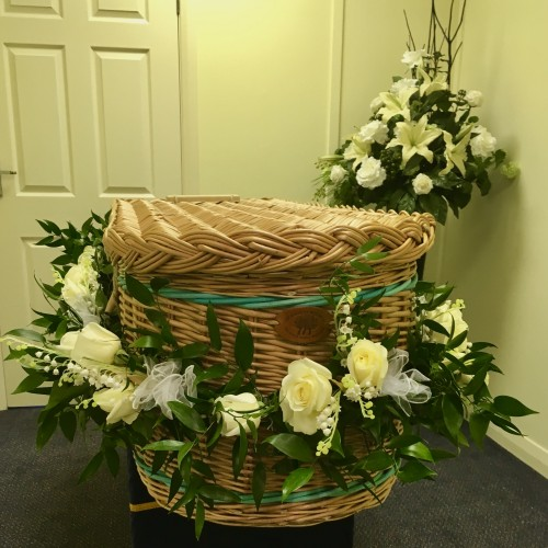 Another Beautifully Decorated Willow Coffin from Hanworth Branch