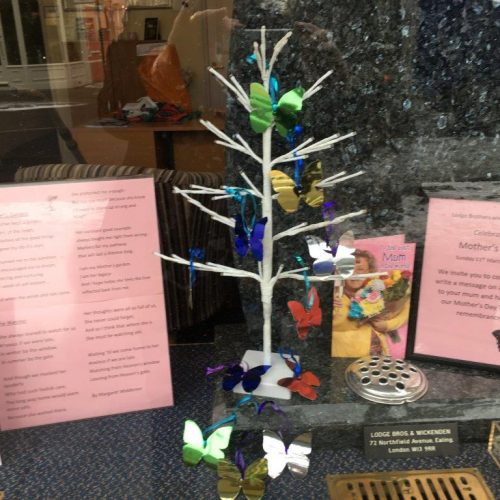 Mothers Day Remembrance Tree at Ealing Branch