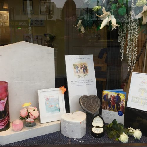 Mothers Day Window Display at Hanworth Branch