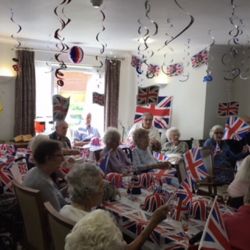Royal Wedding Party at Queen Elizabeth Care Home