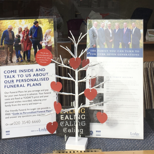 Ealing Branch's Father's Day Tree