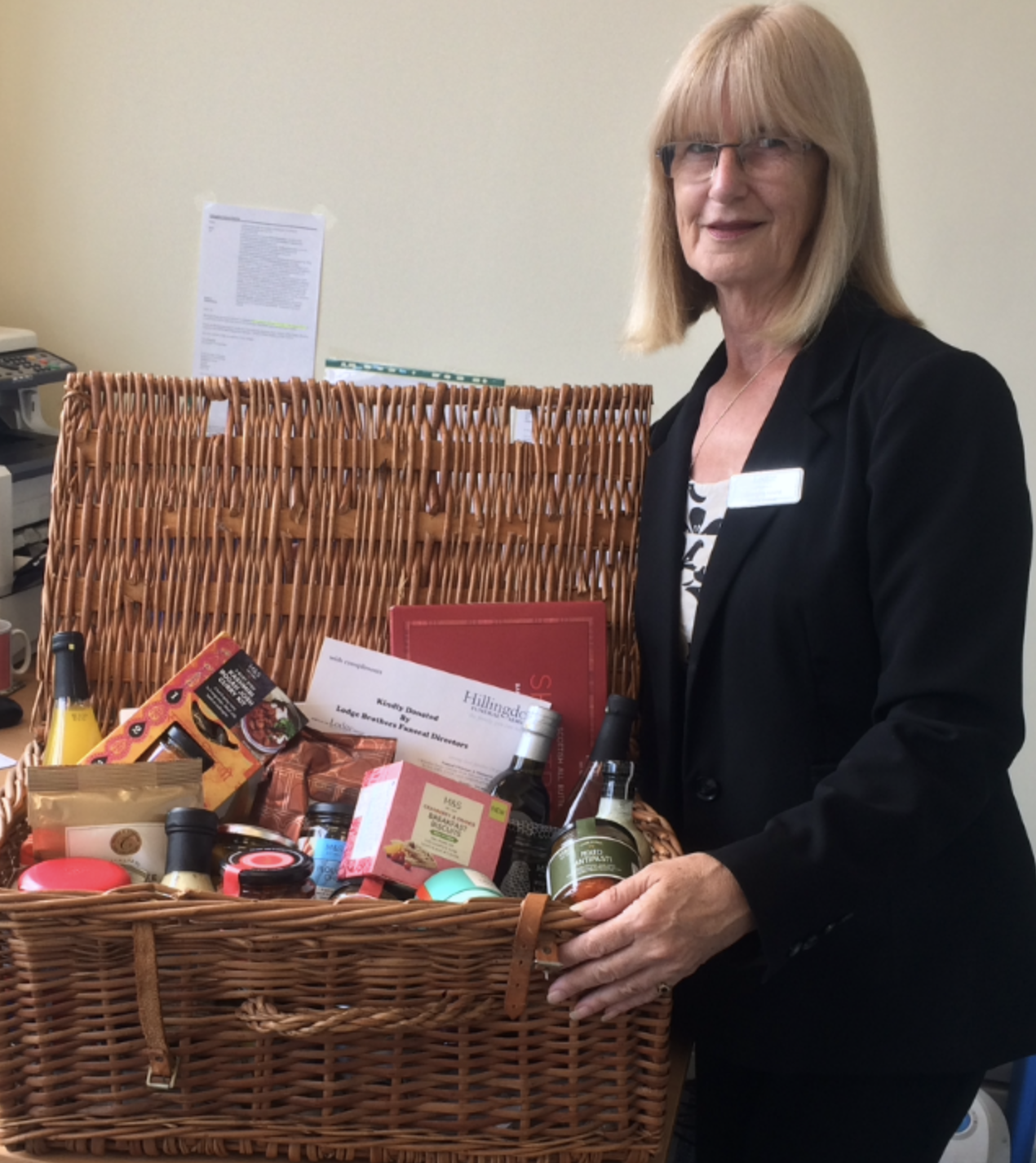 M&S Hamper Donated to Parkfield House Nursing Home