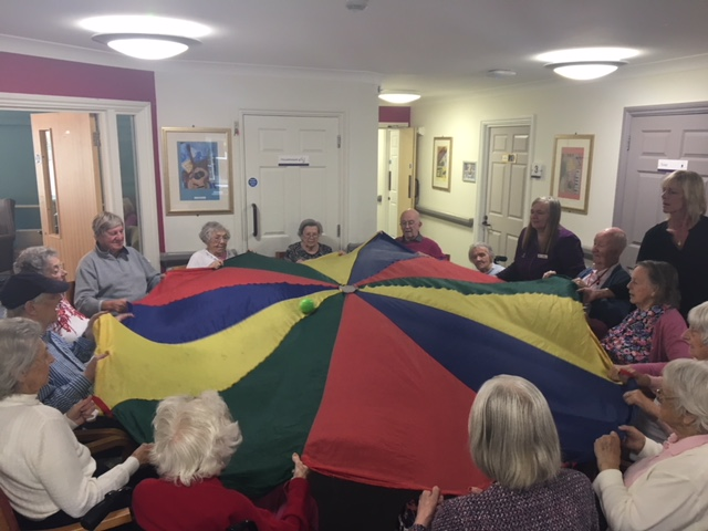 Parachute Fun at Thames Side Care Home