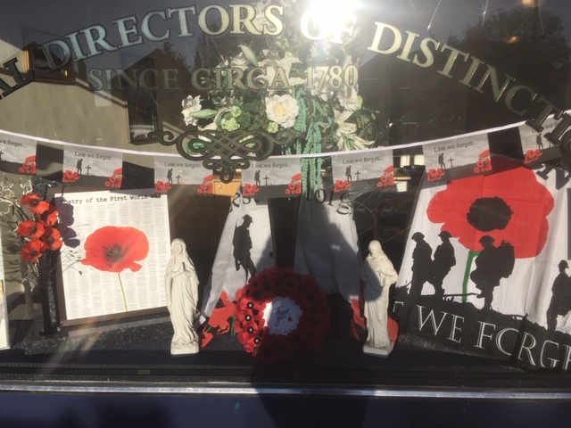 Armistice Day Window Display at Northolt Branch