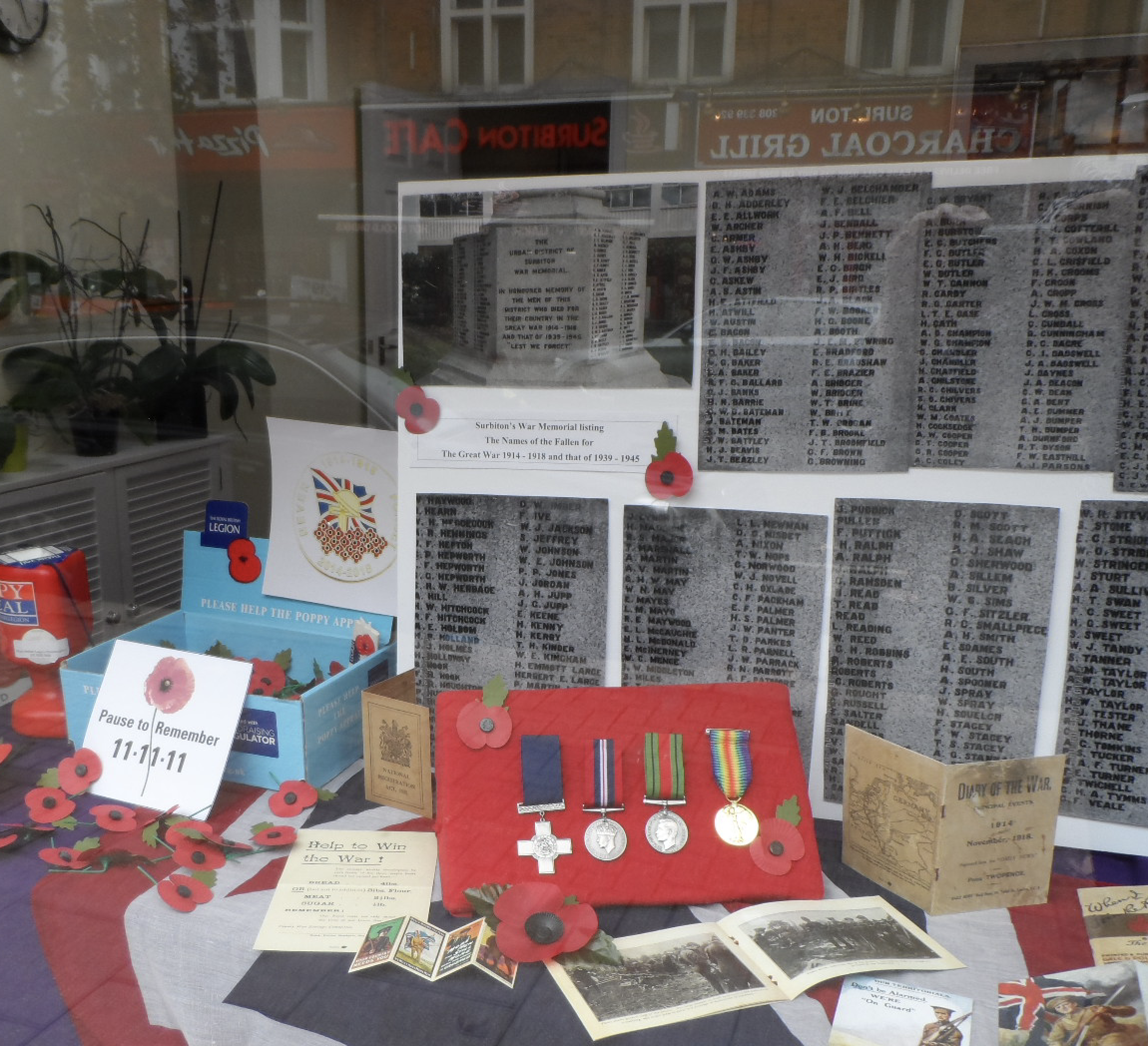 Surbiton Branches Armistice Display by Jane Day