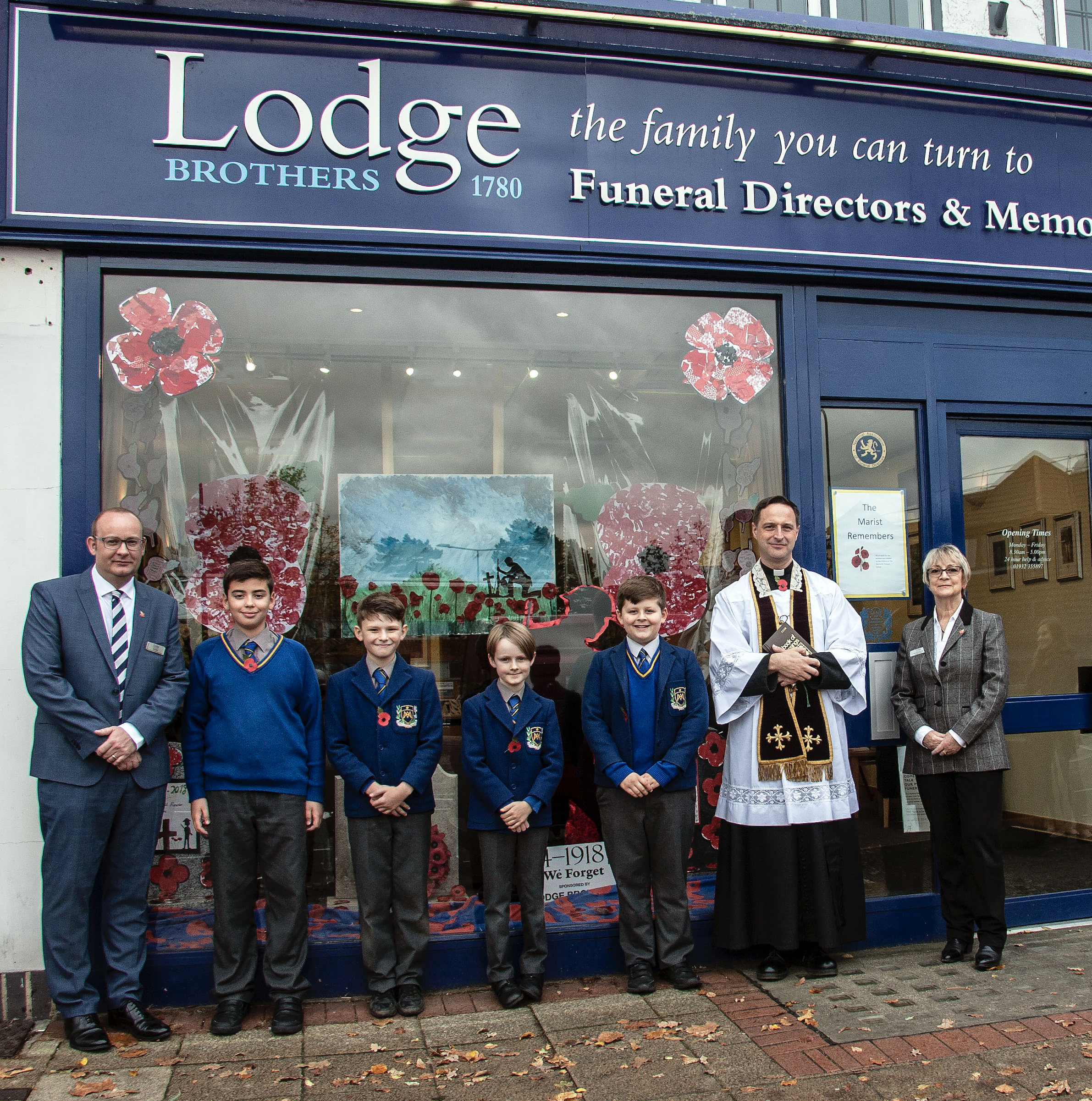 Marist Primary School Provides Artwork for West Byfleet Remembrance Display