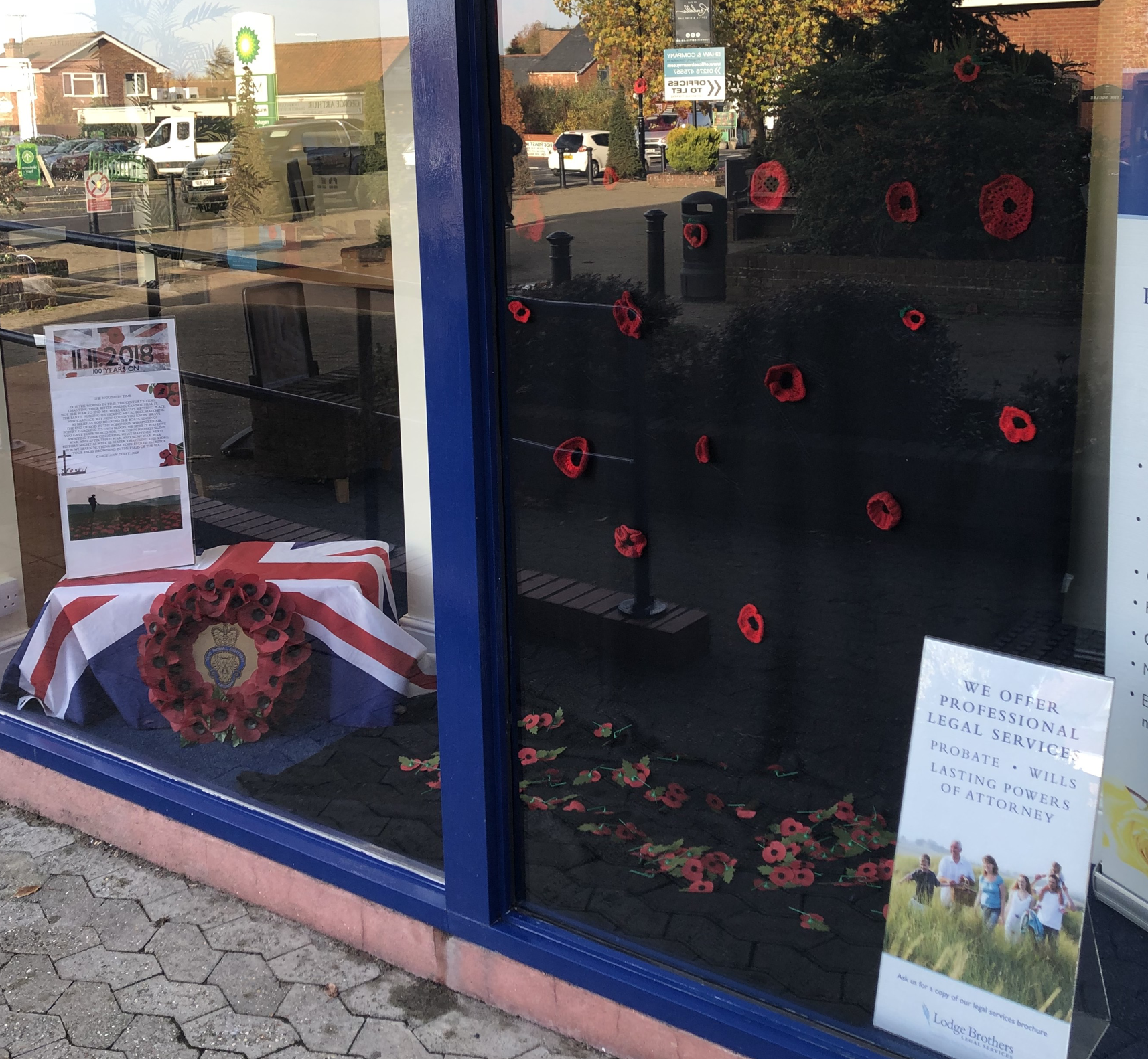 Lodge Brothers, Lightwater says: 'Lest We Forget'
