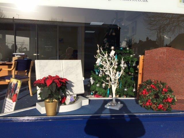 Bedfont Branch Christmas Window Display