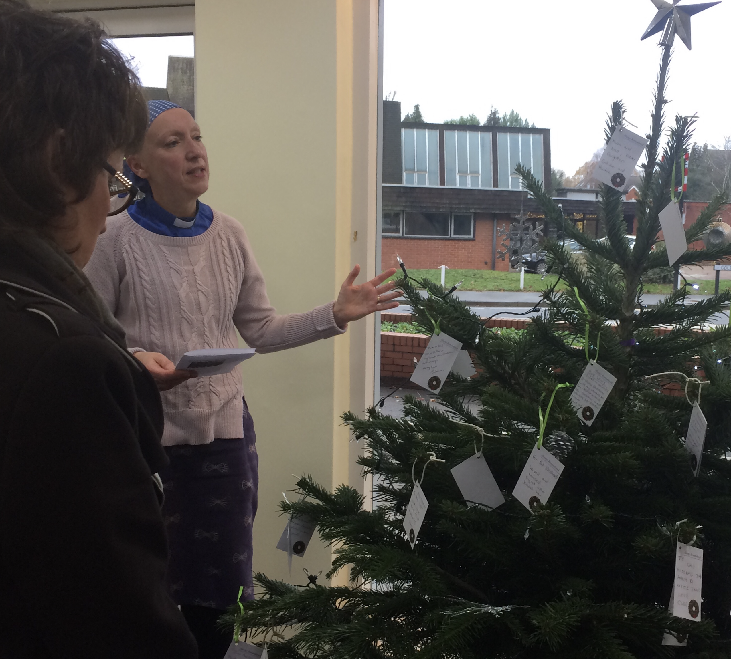 Christmas Tree Blessing at Woking Branch