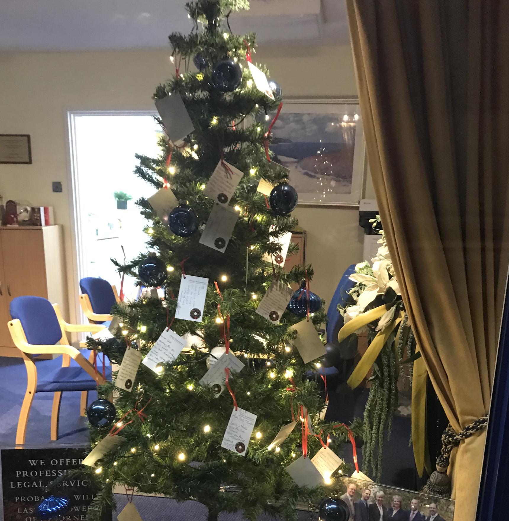 Brentford Branch Christmas Tree