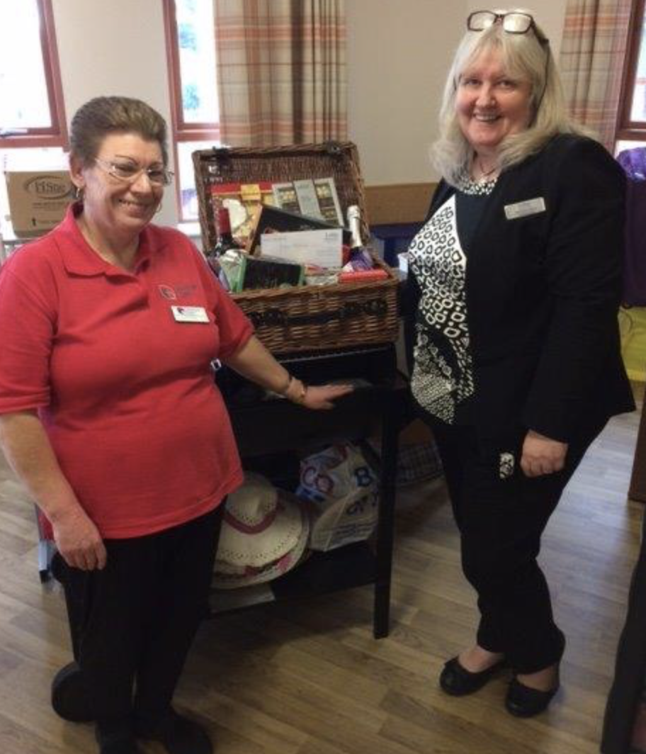 Lodge Brothers Donate Hamper for The Grange Nursing Home Christmas Fair