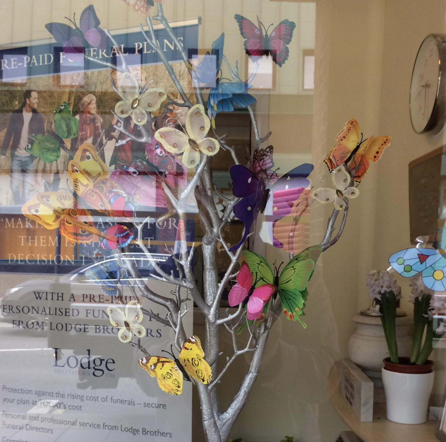 Butterflies for Mothers Day at Yiewsley Branch