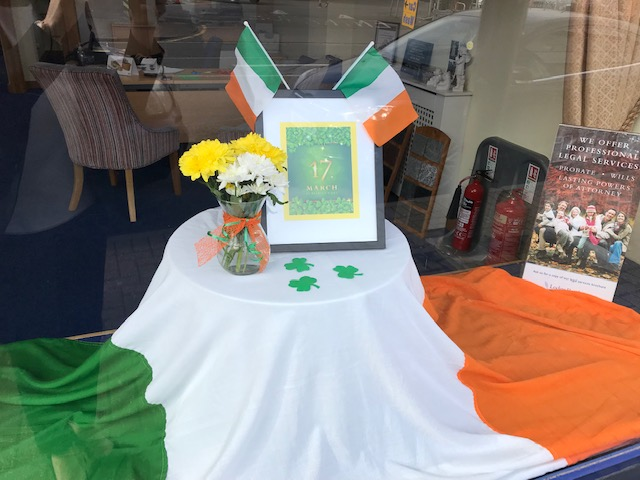Happy St Patrick's Day from Ashford Branch