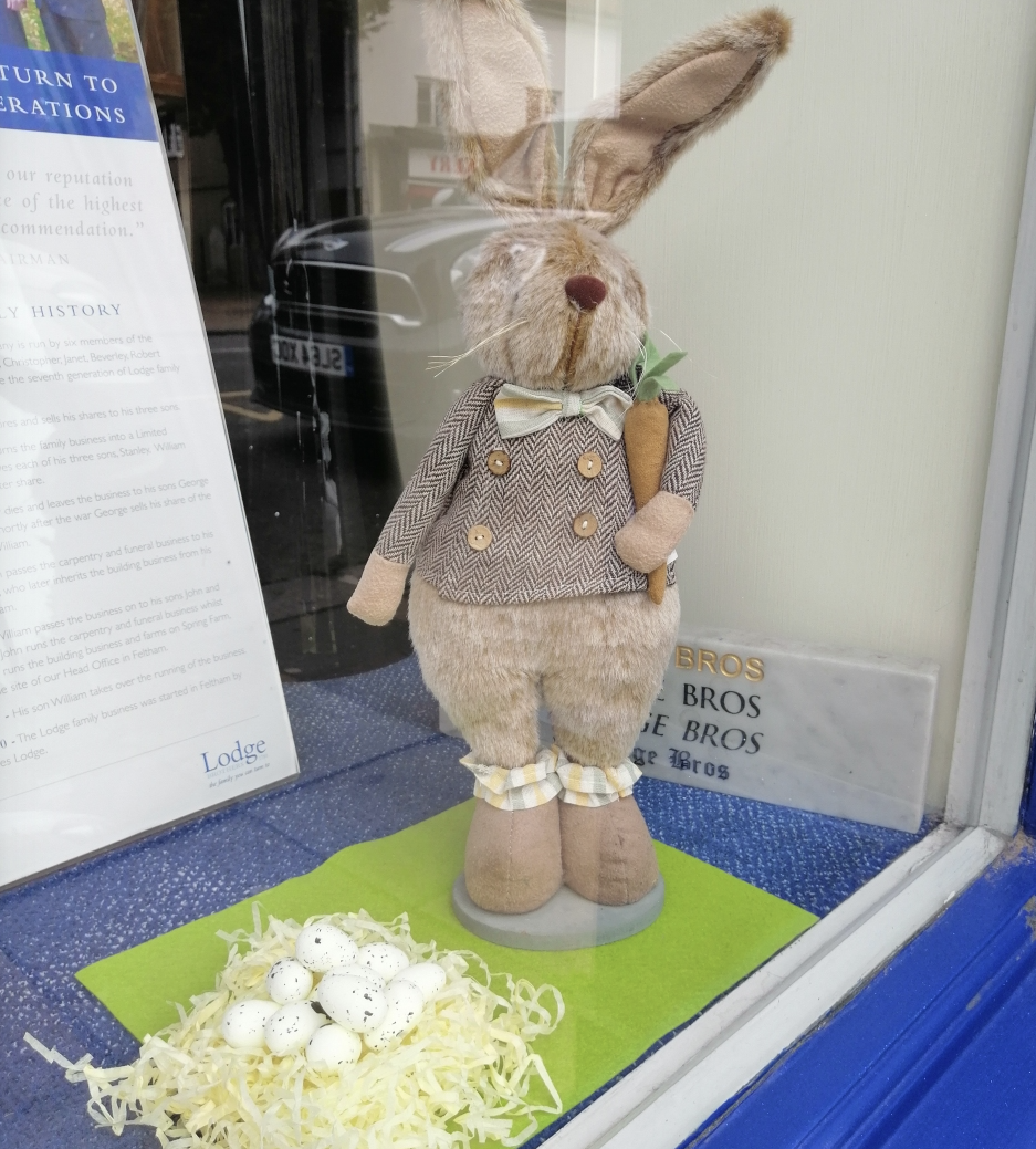 Easter Window Display at Chertsey
