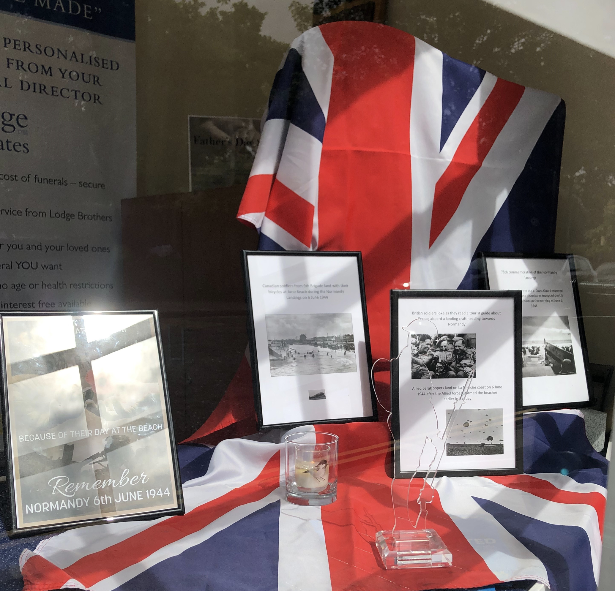 D-Day Anniversary Display at Lodge Brothers & Keates