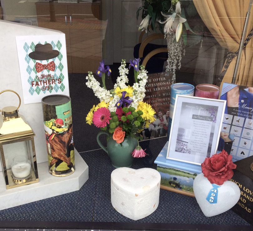 Fathers' Day Window Display at Hanworth Branch