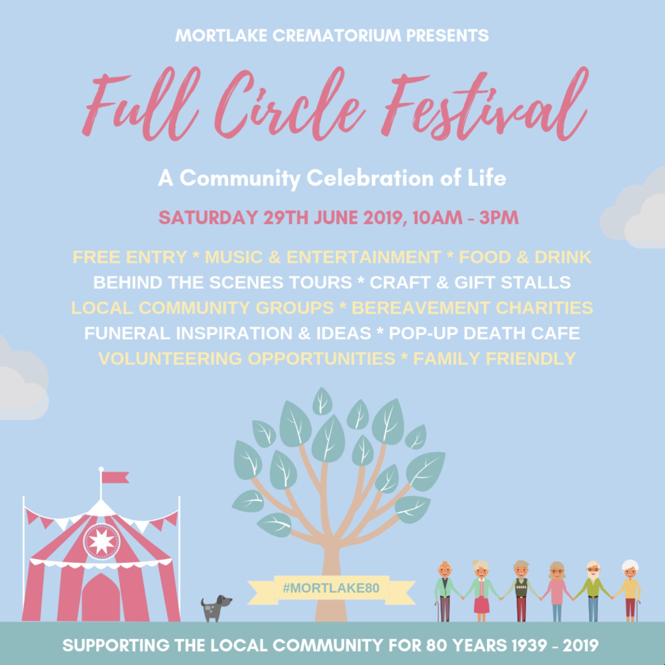 'Full Circle Festival' at Mortlake Crematorium Saturday 29th June