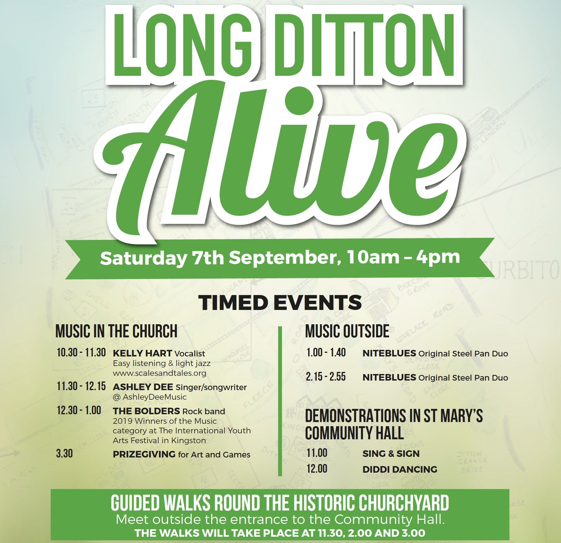 'Long Ditton Alive' at St Mary's Church – Sat 7th September