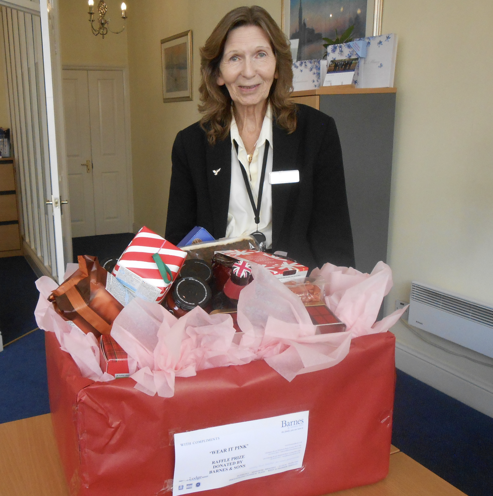 Barnes & Sons Donate Hamper for Wear It Pink Christmas Raffle