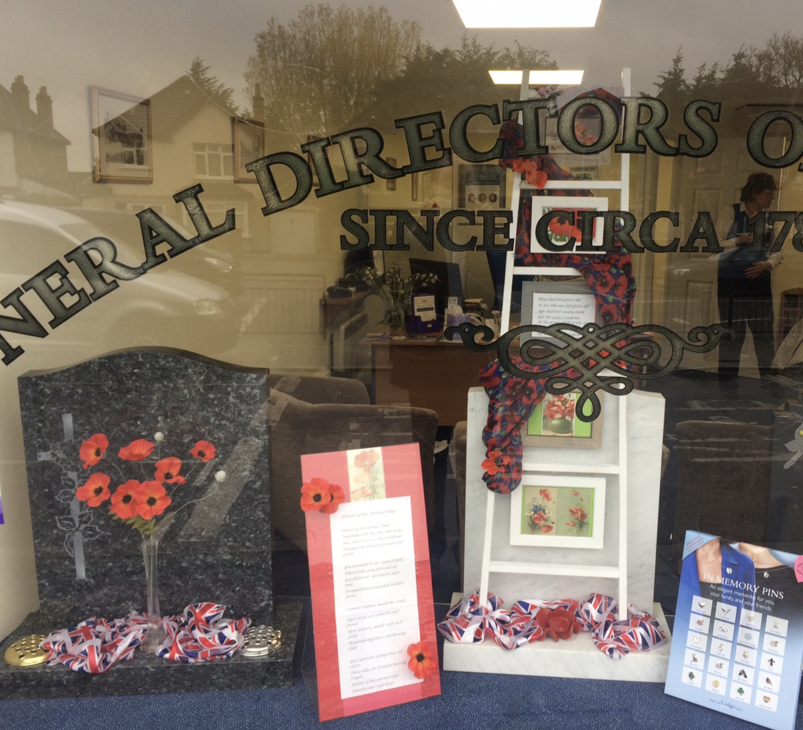 Flags & Poppies In Northolt Branch Window