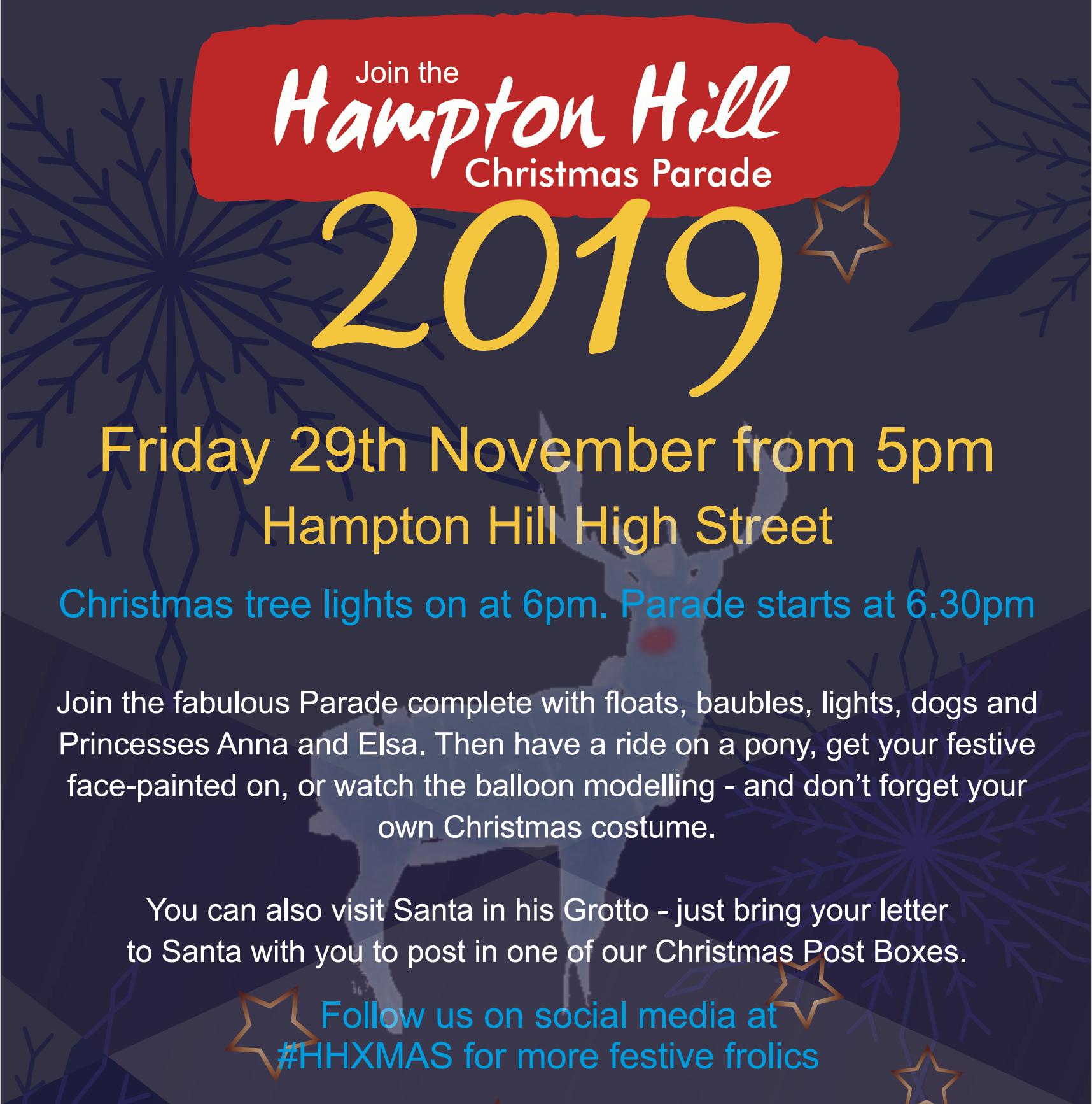 Join the Hampton Hill Christmas Parade Friday 29th November