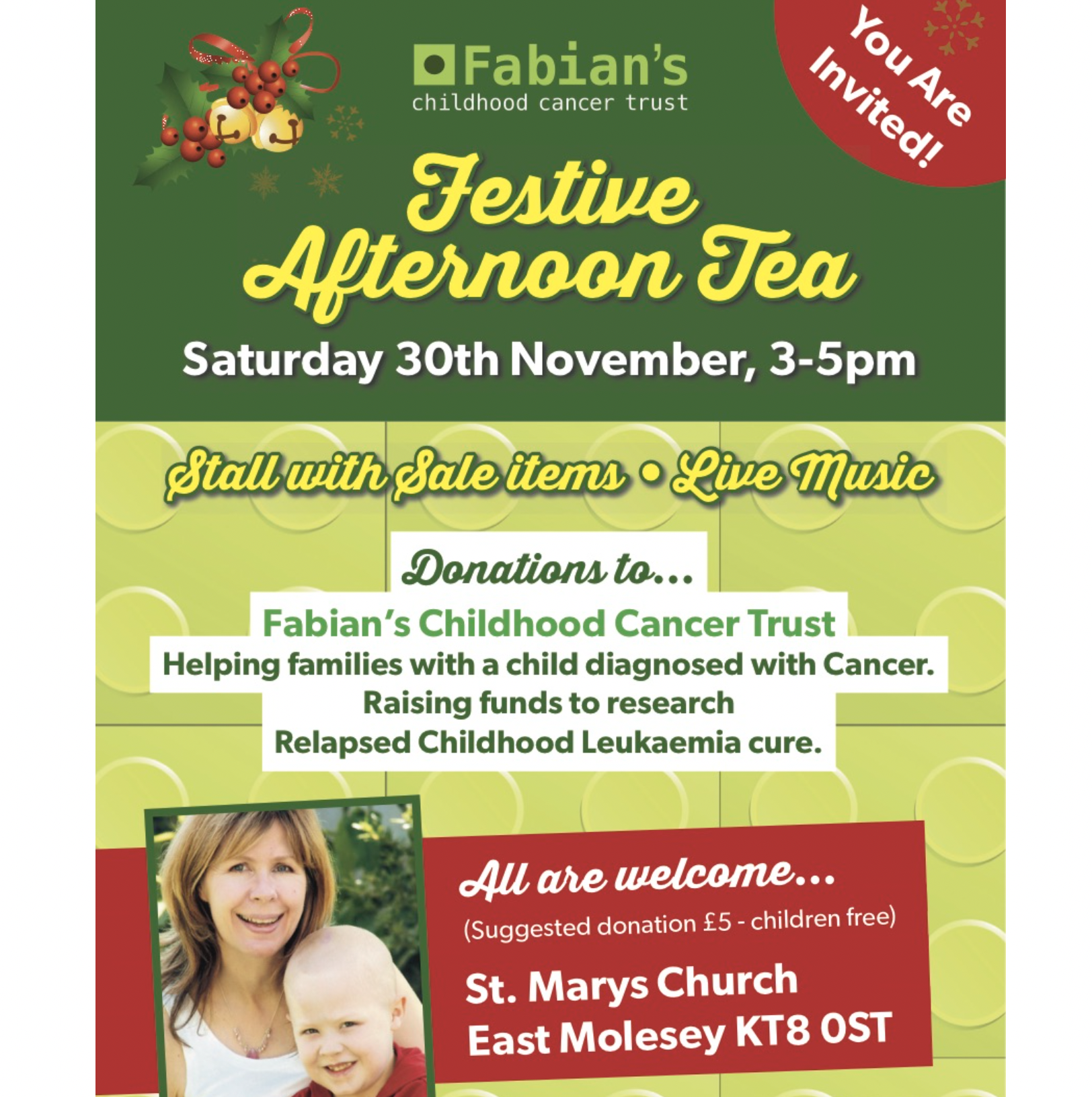 Festive Afternoon Tea at St Mary's Church Saturday 30th November