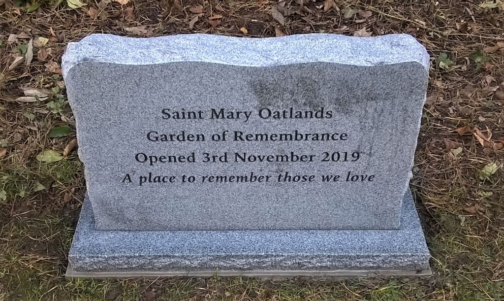 Commemorative Stone Donated by Lodge Brothers to St Mary Oatlands Garden of Remembrance