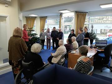 Christmas Tree Blessing Ceremony at Burpham Branch