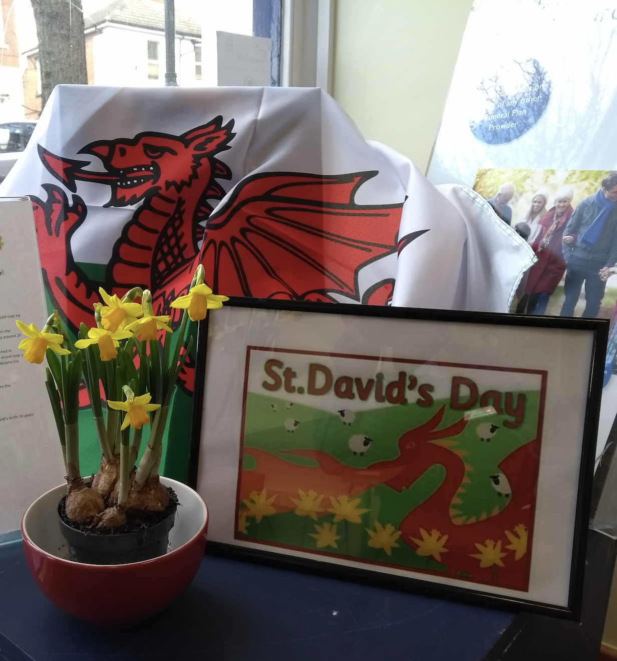 St David's Day Display at Molesey Branch