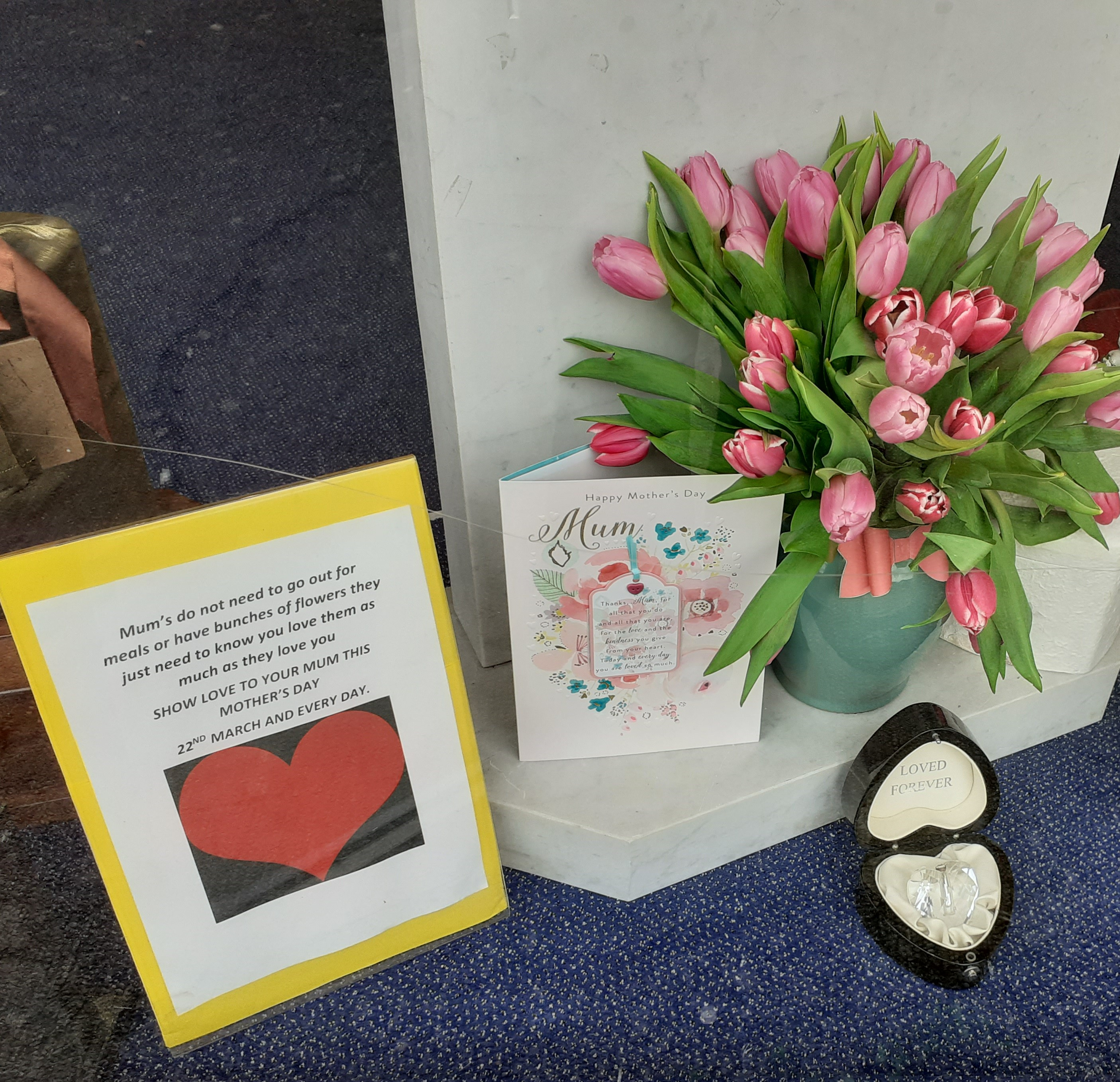 Mothers Day Display at Hanworth Branch