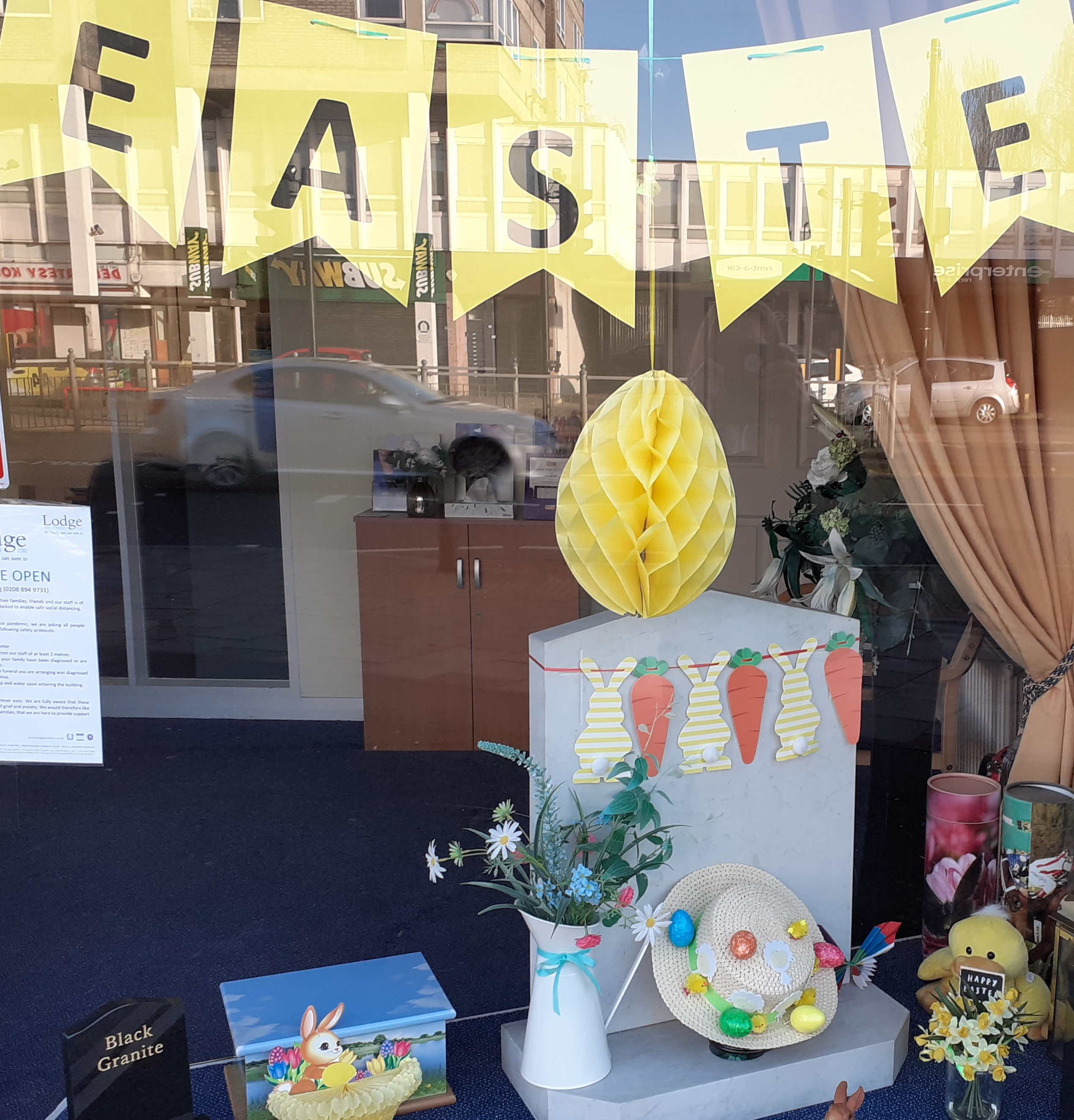 Hanworth Branch Easter Display